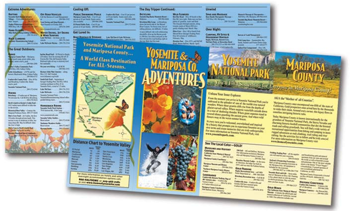 Mariposa Yosemite Tourism Bureau Activities Rack Brochure Interior