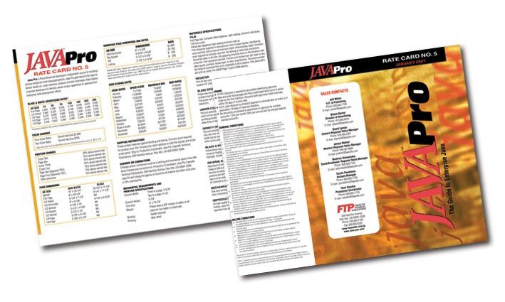JavaPro Magazine Media Kit Brochure