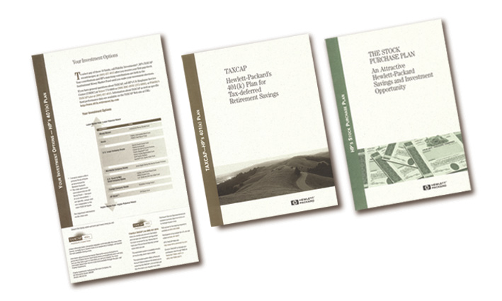Hewlett Packard Investment/Stock Purchase Package Inserts