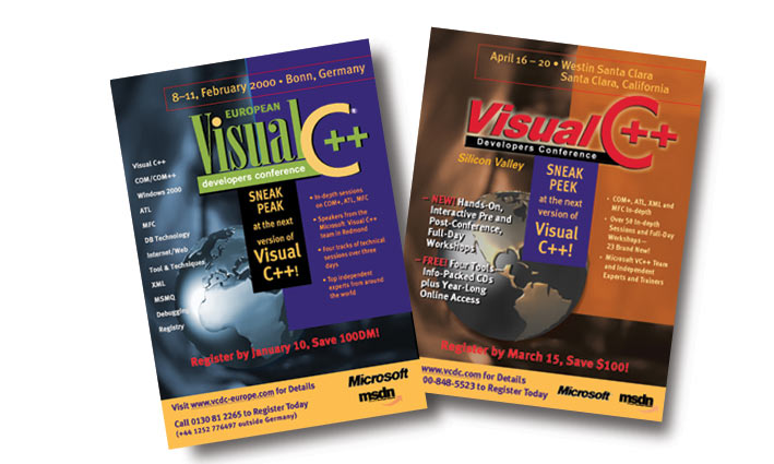 Visual C++ Trade Show Catalog Covers